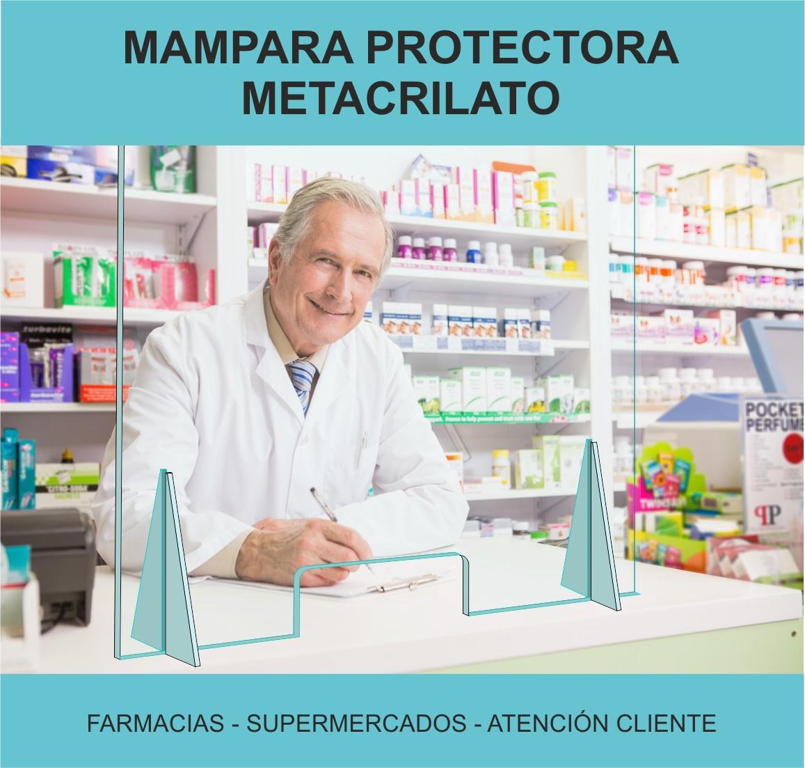 Mamparas de protección de metacrilato para farmacias
